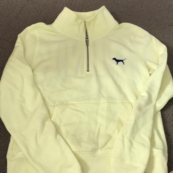 03ab8296df69e 1/4 zip baby yellow sweatshirt AXS